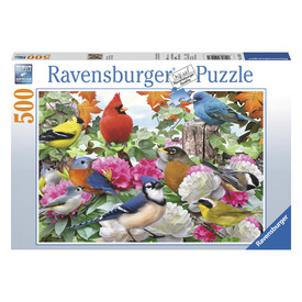 Puzzle 500 db - Madarak a kertben