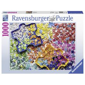 Puzzle 1000 db - Színes darabkák
