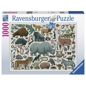 Puzzle 1000 db - Vadállatok