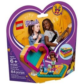 LEGO® Friends Andrea Szív alakú doboza 41354