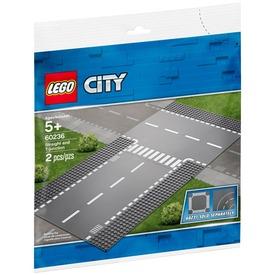 LEGO® City Egyenes út és T -elágazás 60236