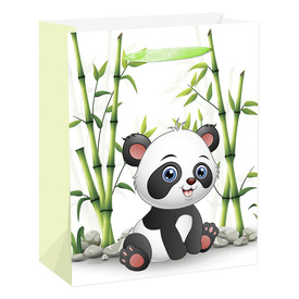 Papírtasak - panda +bambusz 2632