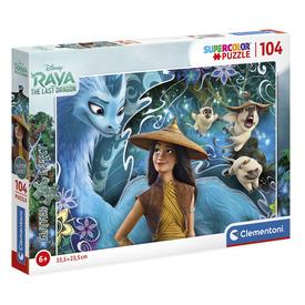 104 db-os Csillogó puzzle - Raya és az utolsó sárkány