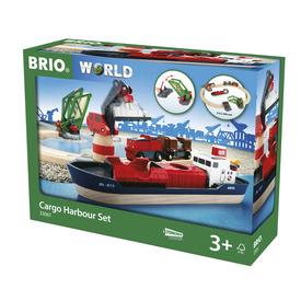 BRIO Hajó kikötő szett