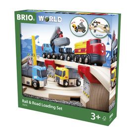 BRIO Vonat és építkezés szett
