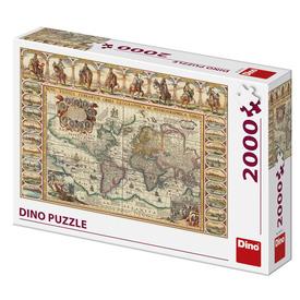 Puzzle 2000 db - Világtérkép