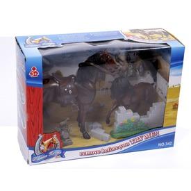 Ló és csikó készlet - 19 cm
