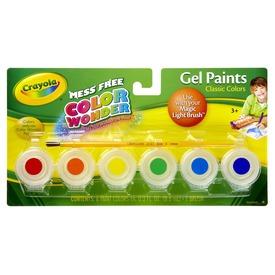 Crayola: 6 tégelyes zselés festék készlet