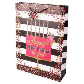 Happy Birthday lufis ajándékzacskó - 33 x 46 cm