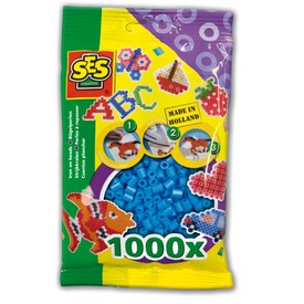 Vasalható gyöngy 1000 darabos - égkék
