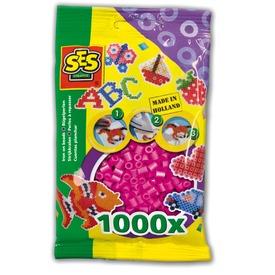 Vasalható gyöngy 1000 darabos - neon rózsaszín