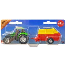 SIKU Deutz traktor vető utánfutóval 1:87 - 1676