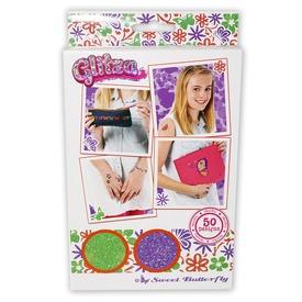 Glitza pillangók 50 darabos tetováló matrica