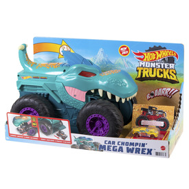 Hot wheels monster trucks autófaló mega wrex