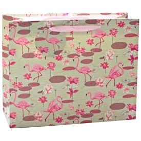 Flamingók ajándékzacskó - 26 x 32 cm