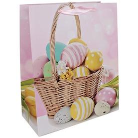 Húsvéti kosár ajándékzacskó - 18 x 23 cm