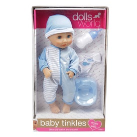 Baba, Baby Tinkles, 38 cm, iszik-pisil, kiegészítőkkel