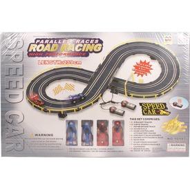 Elektromos 8-as versenypálya kisautókkal - 239 cm