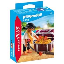 Playmobil Félszemű kalóz kincsesládával 9358