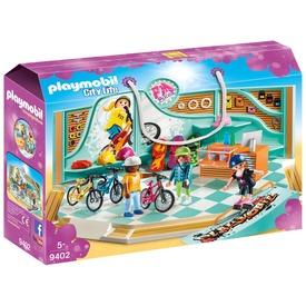Playmobil Gördeszka- és bringabolt 9402
