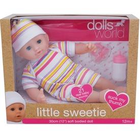 Baba, Little Sweerie, 30 cm alvós szemű baba kiegészítőkkel