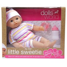 Baba, Little Sweerie, 30 cm, 16 féle hangot adó, alvós szemű baba, kiegészítőkkel