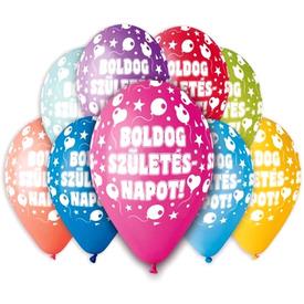 Boldog Születésnapot lufi 30 cm-es, 10db /csomag