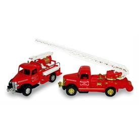 Veterán tűzoltó fém autó - 12 cm, többféle