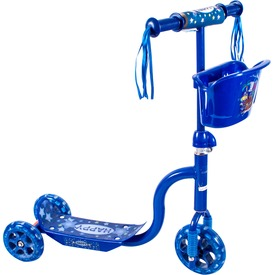 Háromkerekű kosaras roller - kék
