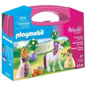 Playmobil Hercegnő egyszarvúval Hordozható szett 70107