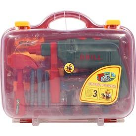 Fúrógép és szerszám készlet bőröndben