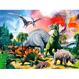 Puzzle 100 db - Hatalmas dinoszauruszok