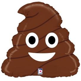 Emoji Poo fólia lufi - 45 cm