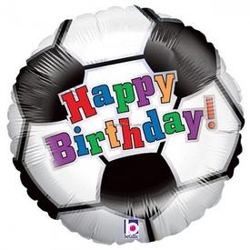 Happy Birthday focilabda fólia lufi - 46 cm