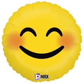 Mosolygó szemű Emoji fólia lufi - 46 cm