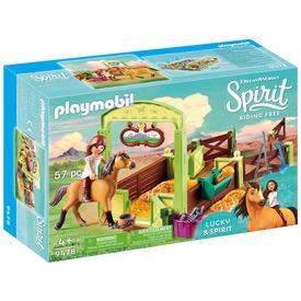 Playmobil Lucky és Spirit istállója 9478