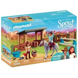 Playmobil Lucky és Javier lovaglókör 70119