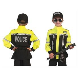 Rendőr fényvisszaverős jelmez - 128-as méret