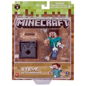 Minecraft Steve figura nyilakkal - 8 cm
