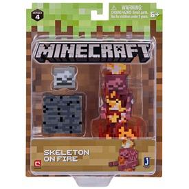 Minecraft égő csontváz figura - 8 cm