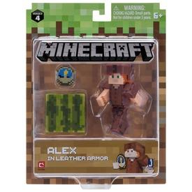 Minecraft Alex figura bőr páncélban - 8 cm