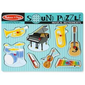 Hangszerek 8 darabos puzzle hanggal