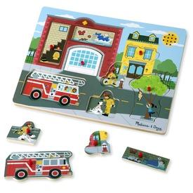 Tűzoltóállomás 8 darabos puzzle hanggal