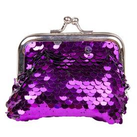 Flitteres pénztárca - 9 x 8 cm, többféle