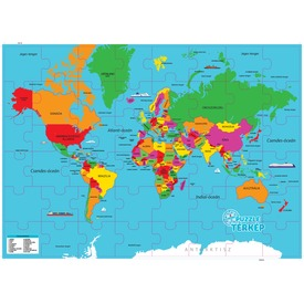 Világtérkép magyarul 48 darabos puzzle