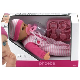 Phoebe puha baba - 30 cm, többféle