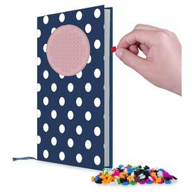 Pixie napló - kék-rózsaszín, pöttyös