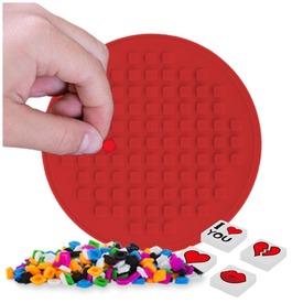 Pixie kerek mozaiklap - piros