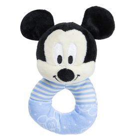 Mickey egér plüss csörgő bébijáték - 16 cm