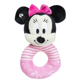 Minnie egér plüss csörgő bébijáték - 16 cm